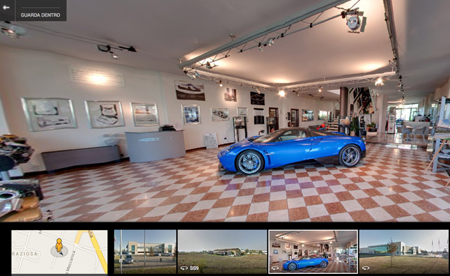 You Can Now Tour Pagani On Google Streetview Autoguide Com News