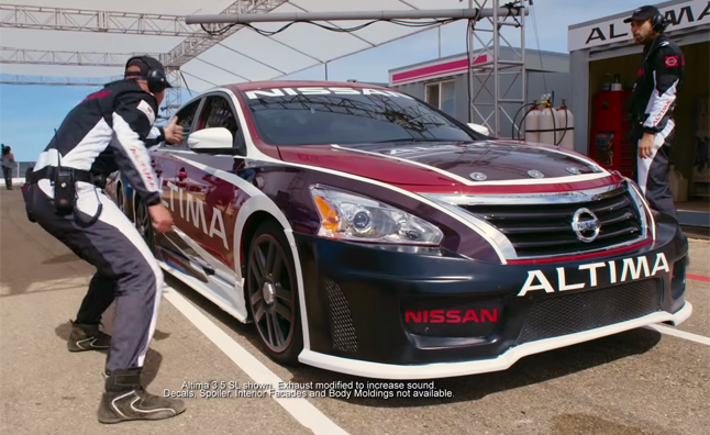 Nissan Altima Dressed As A Race Car Fools Passengers