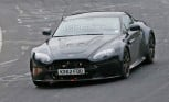 Aston Martin Vantage Spied with Leaves in its Grille