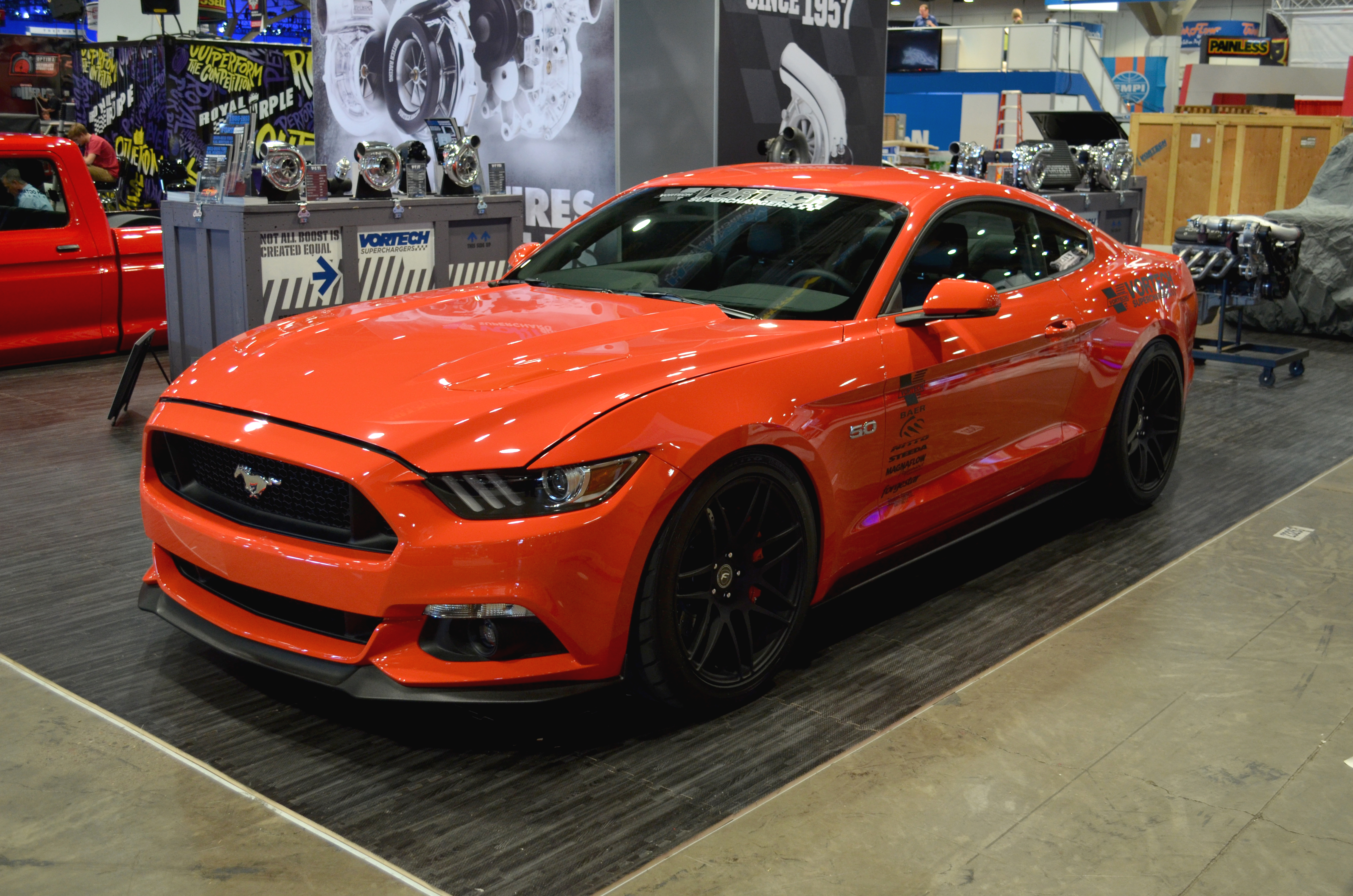 Vortech Supercharged Mustang Drops Covers At Sema