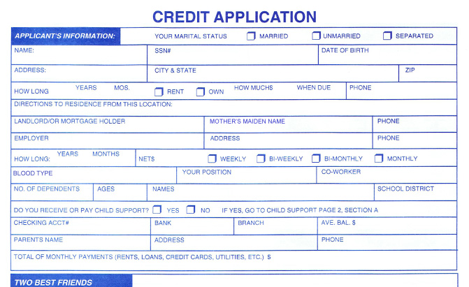What Is Credit Application  PetitComingoutpolyCo