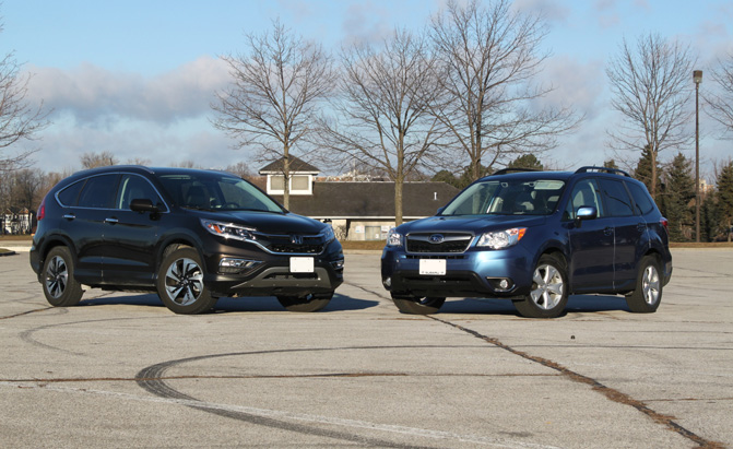 2015 honda cr v vs 2015 subaru forester subaru forester for Honda crv vs subaru forester