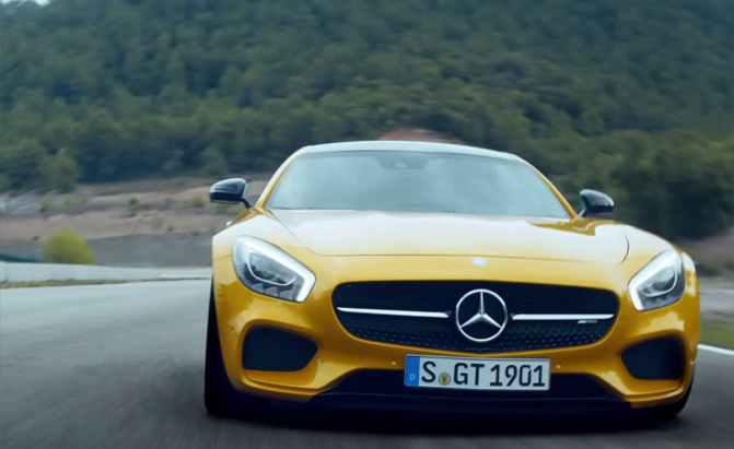 Mercedes amg gt fires at porsche 911 in new ad mercedes for Mercedes benz new advert