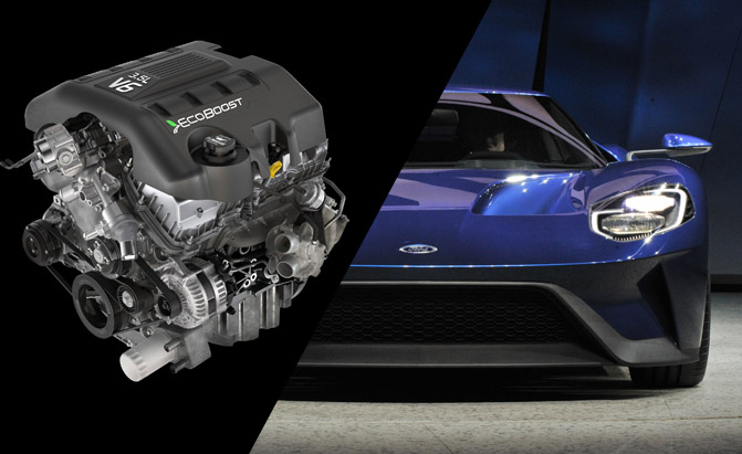 Ford Gt Engine Shares  Percent With F  Ford Inside News Community