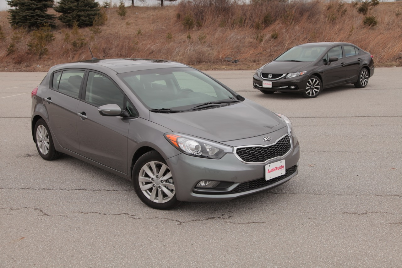 2015 honda civic vs kia forte 5 news