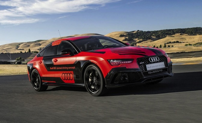 Self Driving Audi RS7 Beats Sports Car Drivers At Sonoma