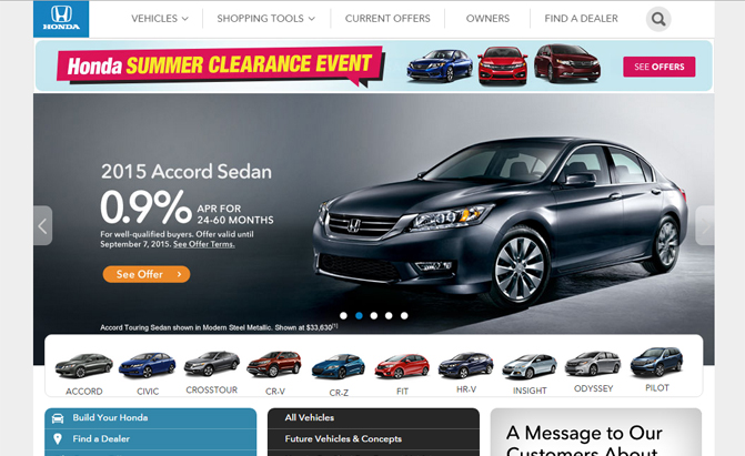Honda Subaru Have The Worst Automaker Websites Study