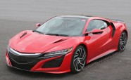 2016 Acura NSX Spied Testing in the Wild in Production Ready Red