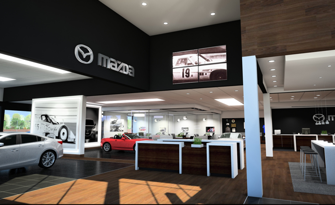 Here's What Mazda Dealerships of the Future Will Look Like
