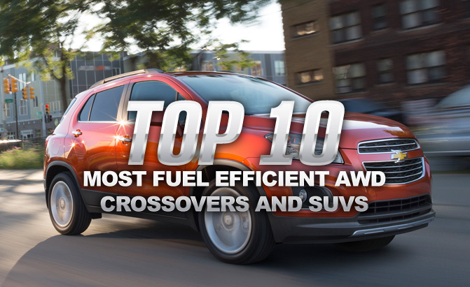 top   fuel efficient awd crossovers  suvs