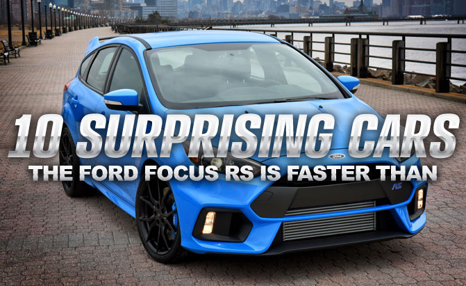 top 10 cars the ford focus rs is faster than. Black Bedroom Furniture Sets. Home Design Ideas