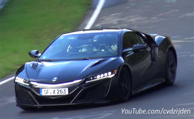 Watch and Listen to the 2017 Acura NSX Tear up Nurburgring