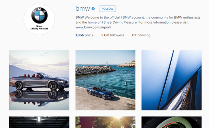 BMW Official Website >> Bmw Jeep Top America S Most Instagrammed Car Brands