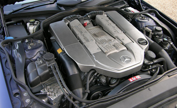 mercedes-sl55-engine