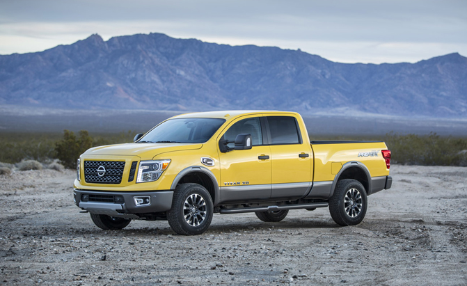 revealed 2016 nissan titan xd rated to tow 12 314 pounds news. Black Bedroom Furniture Sets. Home Design Ideas