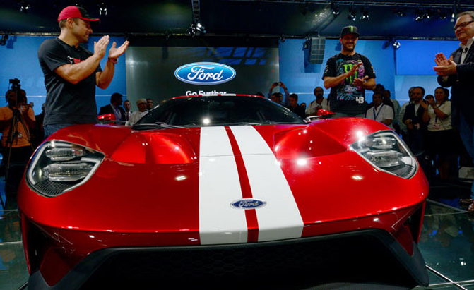 Ken Block Helps Unveil Gorgeous Red  Ford Gt In Dubai