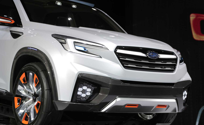 3 row subaru 2018. Plain Subaru Subaru Confirms New 3Row Crossover For 2018 Will Be Built In US To 3 Row Subaru I