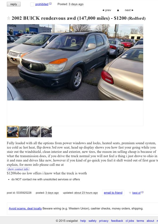 8 Of The Most Hilariously Awful Craigslist Ads We Ve Seen Autoguide Com News