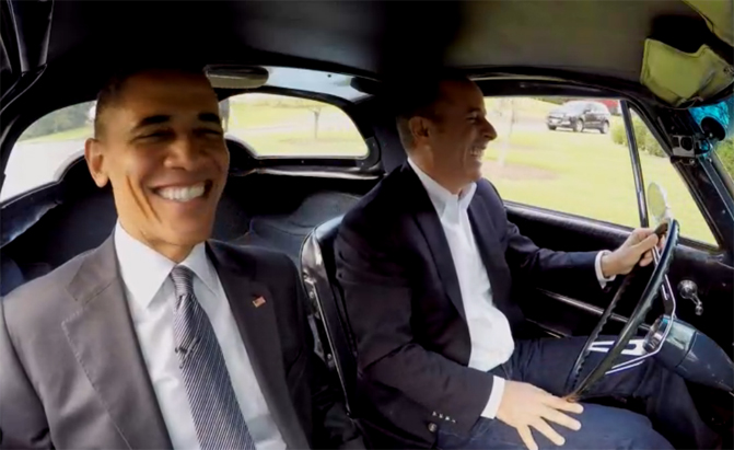 barack obama and jerry seinfeld charm in latest comedians in cars getting coffee. Black Bedroom Furniture Sets. Home Design Ideas