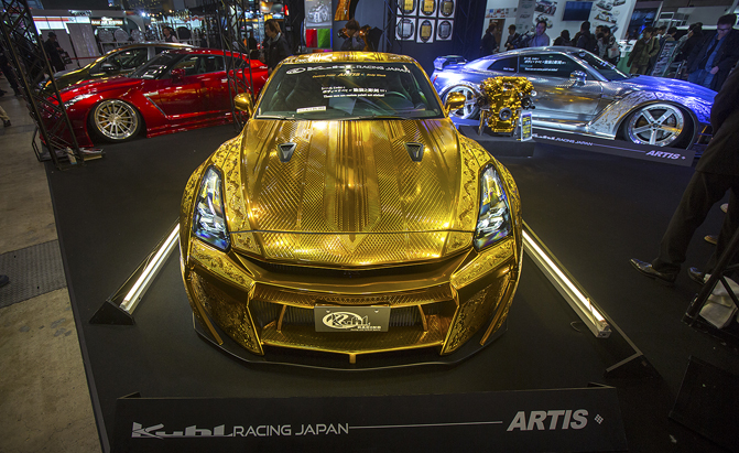 This Embossed Gold Nissan GT-R is All Sorts of Crazy » AutoGuide.com News