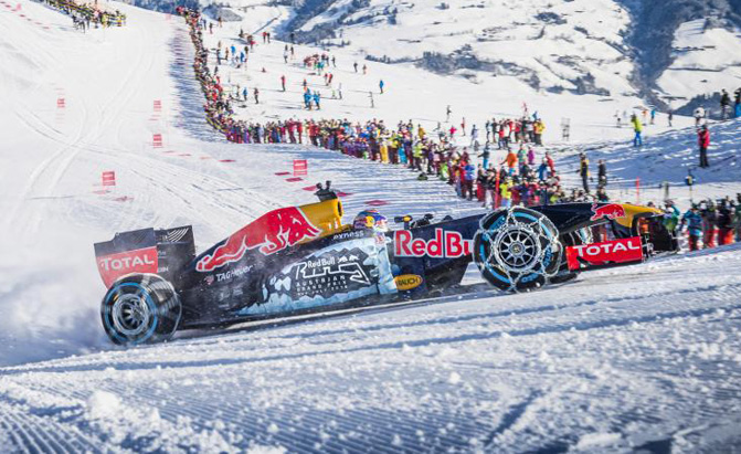 Spot Loan Reviews >> Watch Red Bull's F1 Car Tear up a Ski Slope