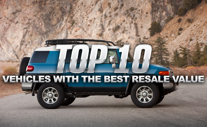 Top 10 vehicles with the best resale values