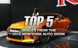 Top 5 Debuts from the 2016 New York Auto Show