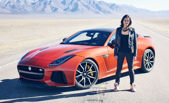 fast and furious star takes jaguar f type svr to its top speed news. Black Bedroom Furniture Sets. Home Design Ideas