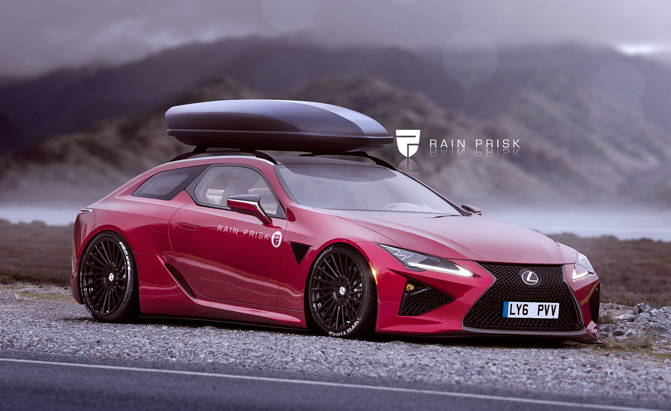 Lexus Lc Looks Stunning As A Wagon In Renders
