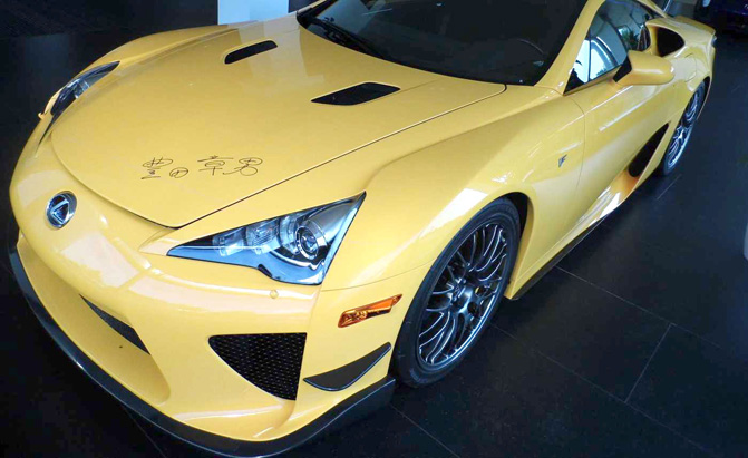 This Lexus Lfa Signed By Akio Toyoda Is Selling For 7 16m