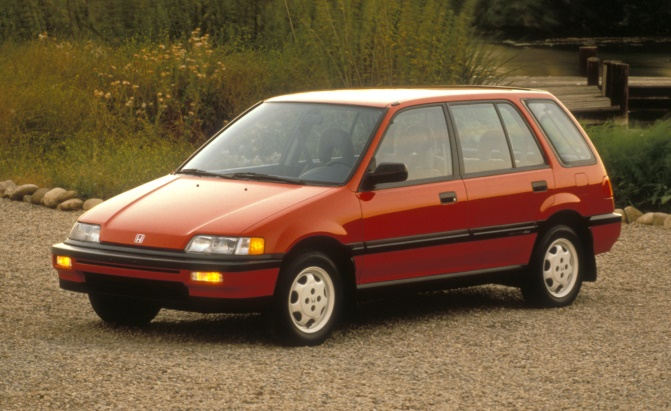 1991 Honda Civic 4WD Wagon.