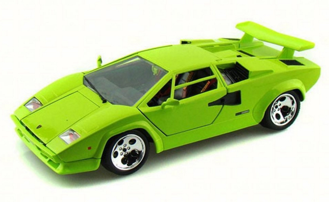 daily diecast a lime lamborghini countach for your. Black Bedroom Furniture Sets. Home Design Ideas