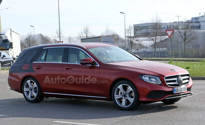 mercedes e class wagon spied nearly undisguised as it. Black Bedroom Furniture Sets. Home Design Ideas