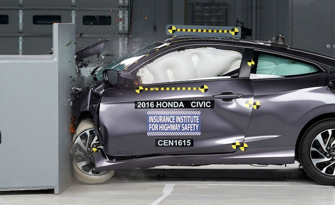 2016 honda civic coupe nabs top safety award from iihs for Honda civic safety