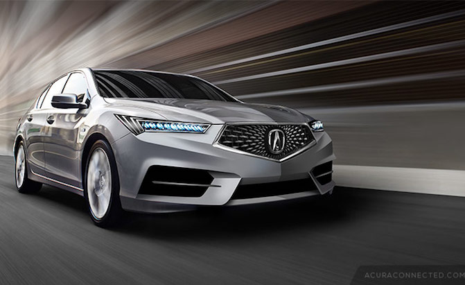 check out these fan renderings of a future acura rlx. Black Bedroom Furniture Sets. Home Design Ideas