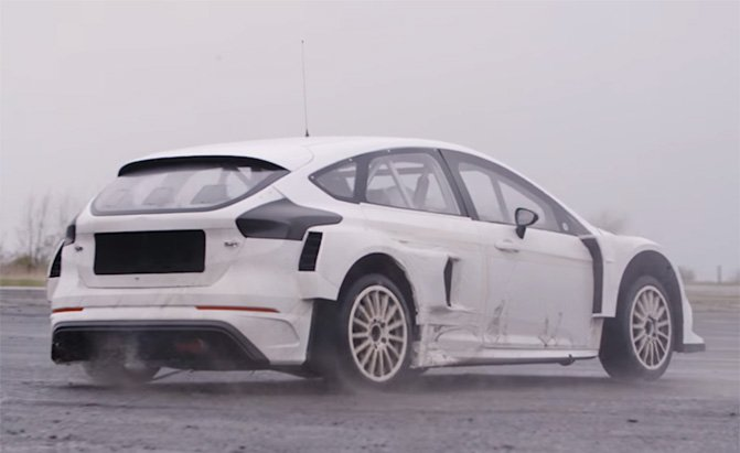 Watch Ken Block Test His Ford Focus RS RX Rally Race Car ...