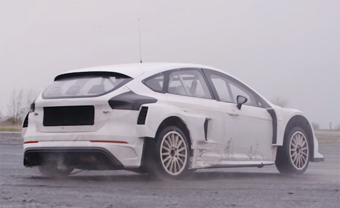Ford Fusion Parts >> Watch Ken Block Test His Ford Focus RS RX Rally Race Car ...