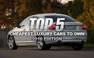 Top 5 Cheapest Luxury Cars to Own: 2016 Edition