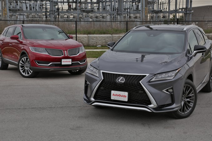 2016 Lincoln MKZ vs Lexus RX 350 hero 3