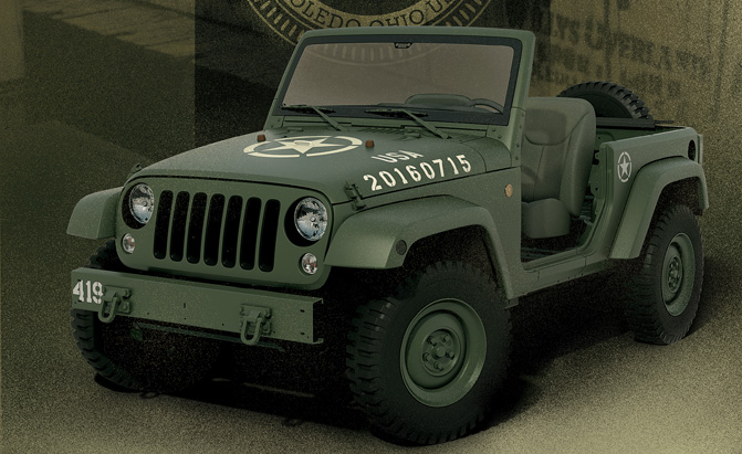 Jeep Celebrates Its Military Heritage With Retro Wrangler Concept
