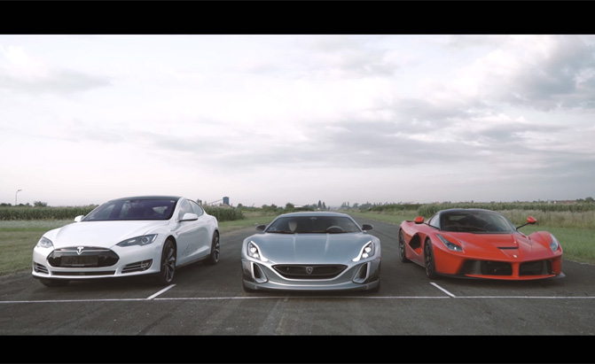 All-Electric Hypercar Takes on Tesla Model S, LaFerrari in Drag Race » AutoGuide.com News