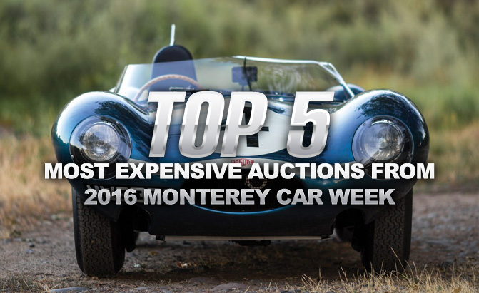 Top 5 Most Expensive Cars Sold During 2016 Monterey Car Week