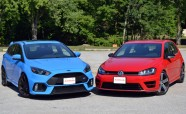 2016 Ford Focus RS vs Volkswagen Golf R