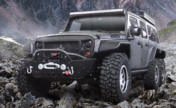 crazy 6 wheeled jeep wrangler tomahawk a made in china beast news. Black Bedroom Furniture Sets. Home Design Ideas