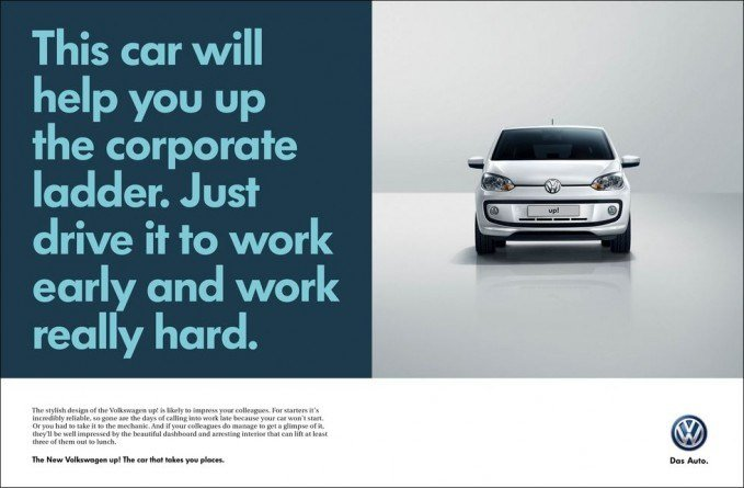 Volkswagen Ad - Climbing the corporate ladder