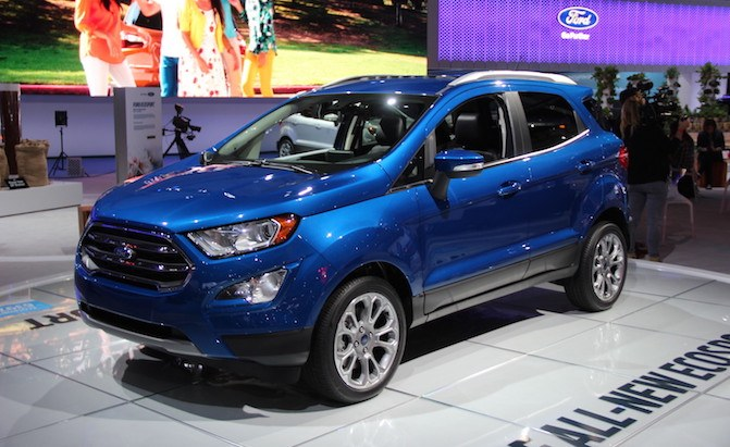 Ford Ecosport Is A New Baby Suv For The Us