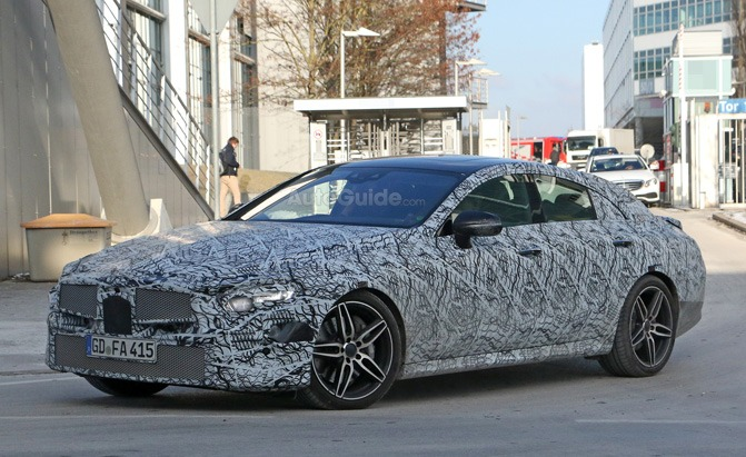 2019 Mercedes Benz Cls Spied Testing But It Doesn T Clear