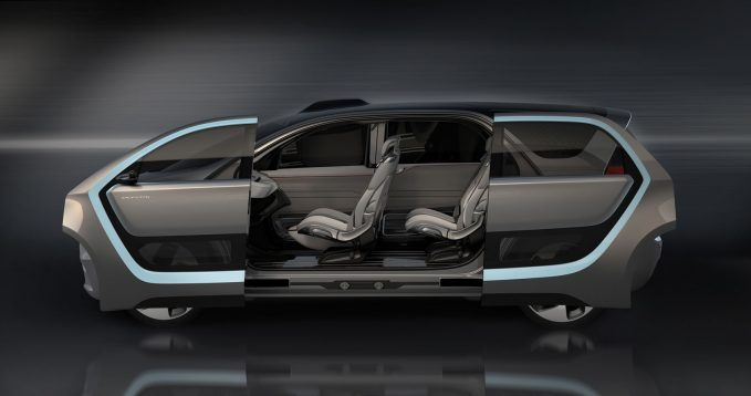 Chrysler Portal Concept portal-shaped side-openings, with articu