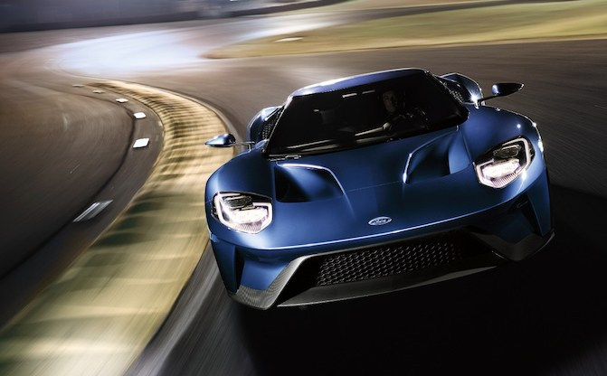 Ford Gt On Track Front