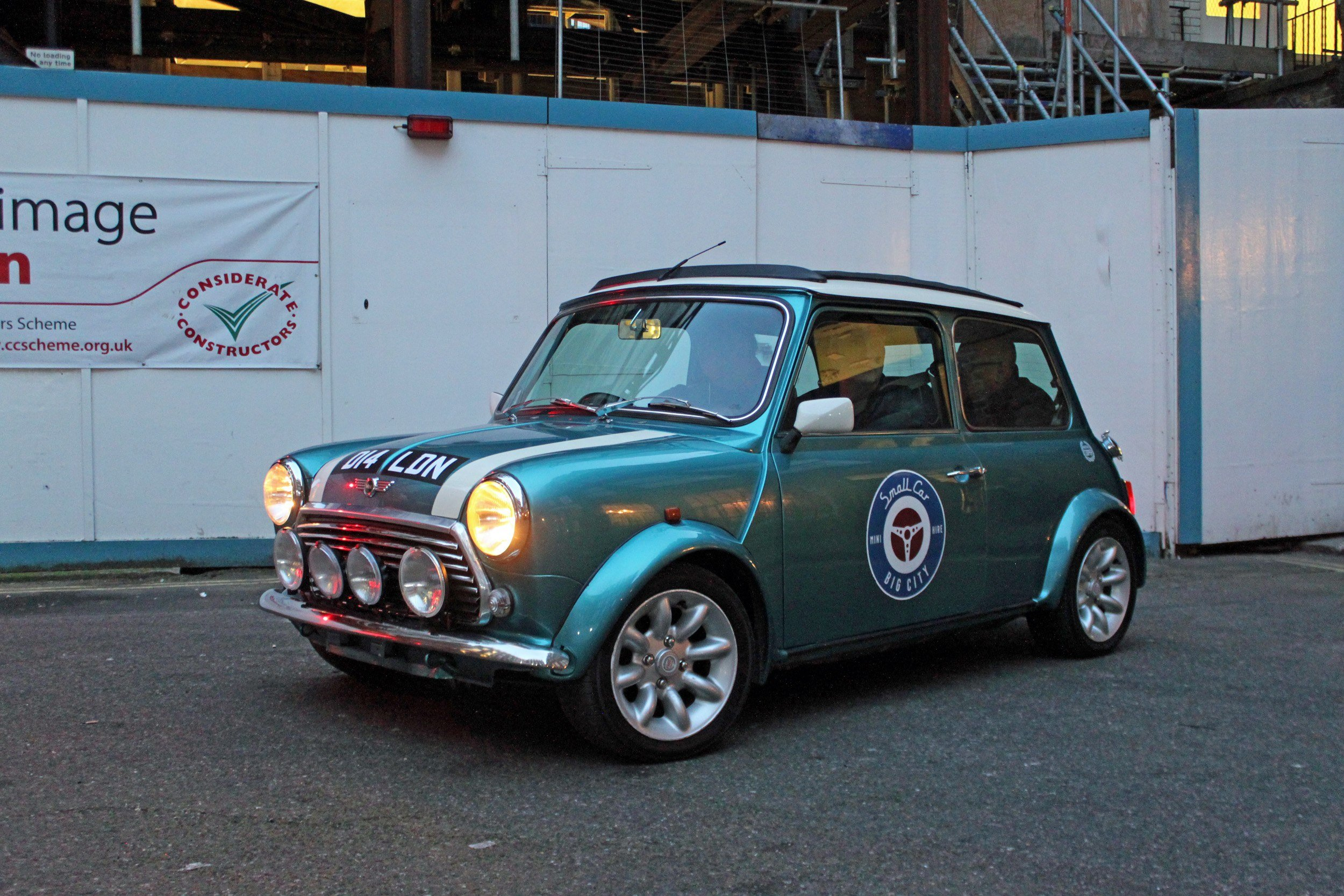 small car big city driving a vintage mini through the streets of